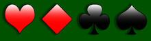 Simbolo Carte Cuore Fiori Picche Quadri Poker Casinò