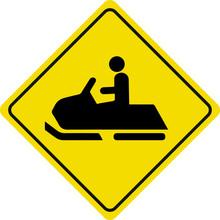 Snowmobile Yellow Vector Road ...