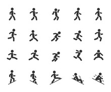 Vector Set Of Movement People ...