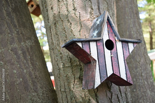 Canvas Extreme Close-up Of Birdhouse