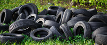 Dump Of Old Used Tires On Fres...