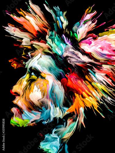 Obraz Abstract Portrait of Young Lady - fototapety do salonu
