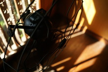 Close-up Of Electric Fan At Home