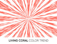 Coral Trendy Color Sun Rays Or...