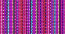 Blanket Stripes Seamless Vector Pattern. Cinco De Mayo. Serape Style. Ethnic Mexican Fabric Pattern.