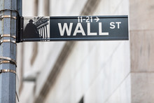 Wall Street Sign With Copy Space