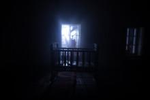 Old Creepy Eerie Baby Crib Nea...