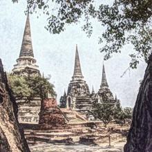 Buddha Temple At Ayutthaya Historical Park