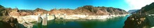 View Of Hoover Dam By Colorado River And Mountains