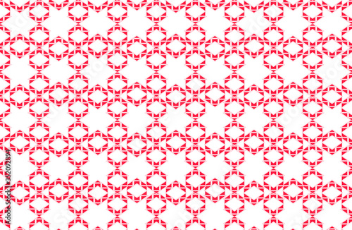 White star shapes repeating pattern formed from angular hexagonal designs Canvas Print