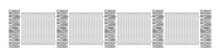 White Brick Poles Fence With W...