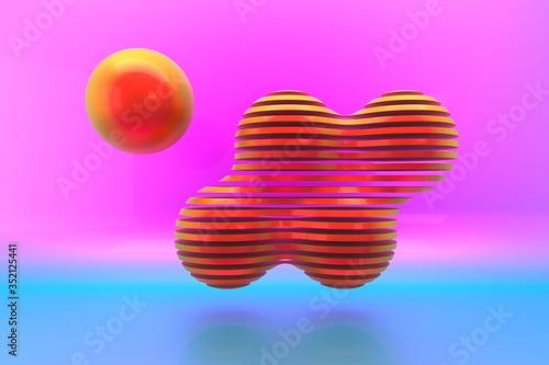 canvas print motiv - dekzer007 : Abstract background design. 3d rendering.