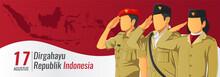 Banner Hari Kemerdekaan Republik Indonesia - Translate Indonesian Republic Independence Day Banner