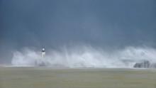 Massive Waves Crash Over Harbo...
