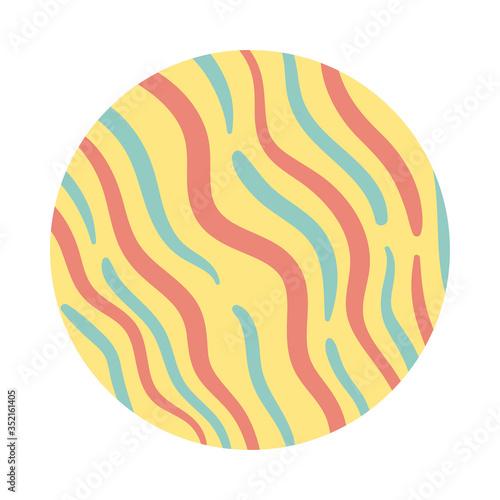 Fototapeta waves organic pattern block style obraz
