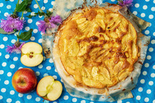 Flowers And Apple Pie On A Tab...