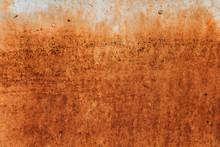 Rusty Surface In Rusty Corten.
