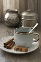 Coffee With Cinnamon And Silve...