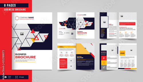 8 Pages Business Brochure Template Design Canvas-taulu