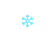 Snowflake Vector Flat Icon. Isolated Snow Emoji Illustration