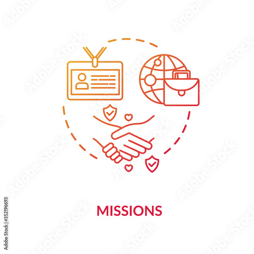 Diplomatic mission concept icon Wallpaper Mural
