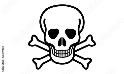 Fotografía skull and crossbones icon vector illustration.