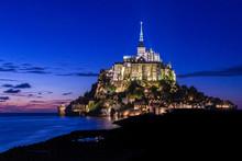 Mont Saint Michel Abbey In Fra...