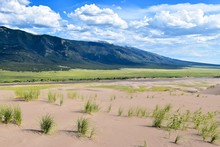 Scenic View Of Great Sand Dunes National Park And Preserve Against Sky