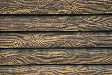 Background Of Decorative Sawn And Hand-painted Wood. Old Wooden Texture