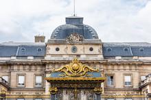The Palais De Justice, Formerly The Palais De La Cite, Is Located On The Boulevard Du Palais In The Ile De La Cite In Central Paris, France.