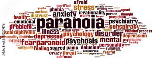 Vászonkép Paranoia word cloud