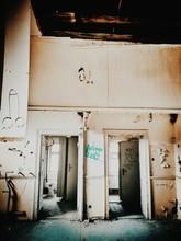 Open Doors In Abandoned Building