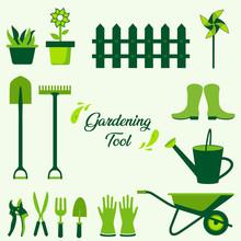 Gardening Tools Collection. Ga...