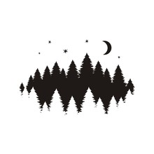 Coniferous Trees Silhouette