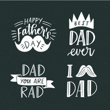 Happy Father's Day Badge Desig...