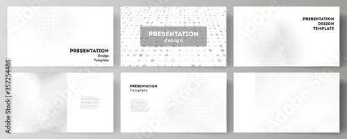 Vector layout of presentation slides design business templates, multipurpose template for presentation brochure, brochure cover Fototapeta