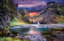 Wonderful Nature Of Iceland. F...