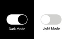 Day Night Switch Vector Icon. Dark Mode, Light Mode Switch Button. Mobile App Interface Design Concept.
