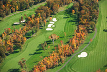 Aerial View Of Golf Course In ...
