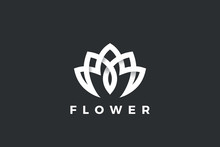 Flower Logo Lotus Abstract Lux...