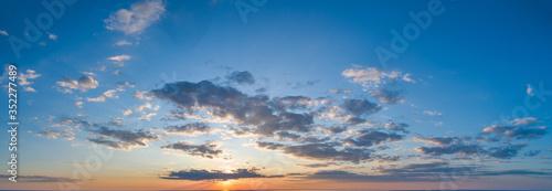 Obraz Sunset sky with multicolor clouds - fototapety do salonu