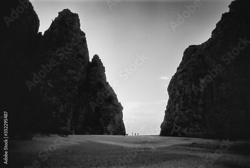 Canvas Print Rock Formations Against Sky