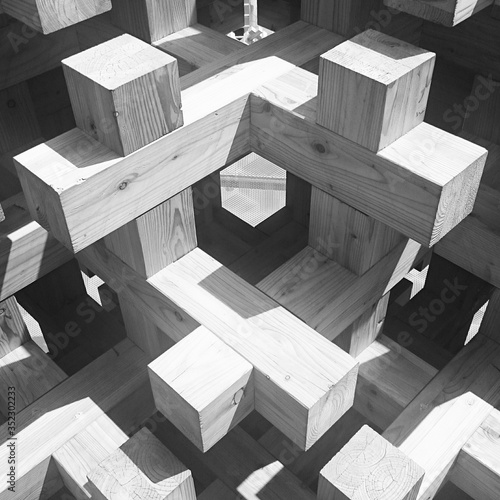 High Angle View Of Wooden Crosses