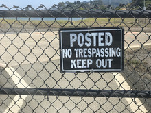 No Trespassing Keep Out Sign A...
