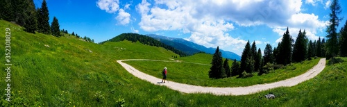 Photo Panoramic View Of Asiago Plateau Against Sky