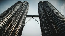Low Angle View Of Petronas Towers Against Sky