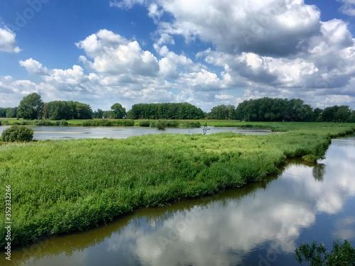 Fototapeta Scenic View Of Lake Against Sky obraz na płótnie