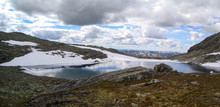 Panoramic View Of Lake And Mou...