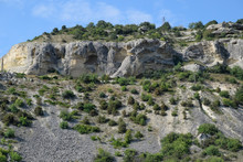 Limestone Cliffs With Sample O...