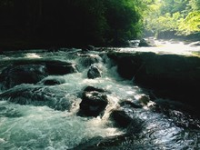 Stream Amidst Rocks In Great S...